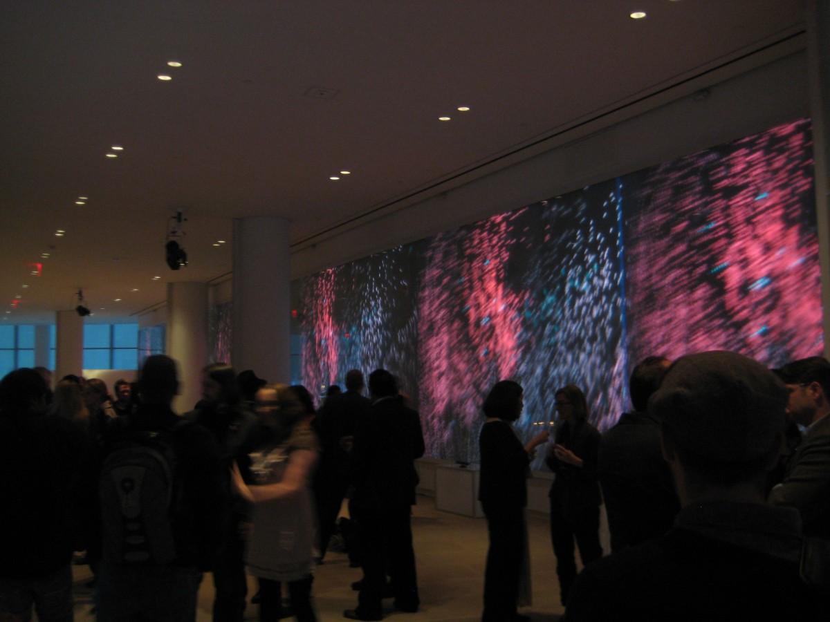 Kinect Particle Visuals at IACHQ in NY